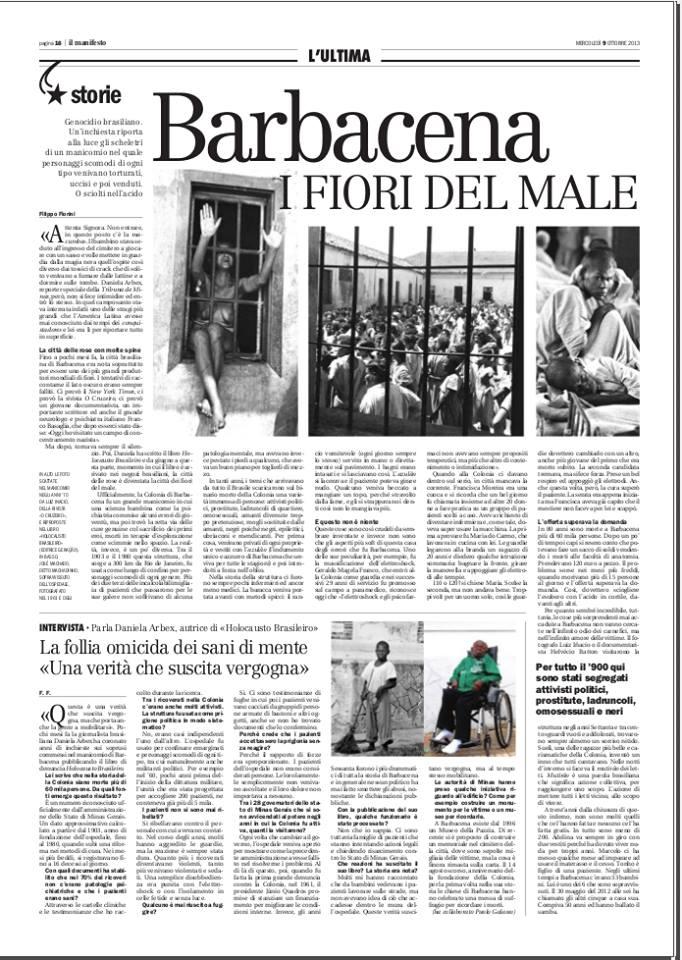jornal italiano faz matéria sobre holocausto